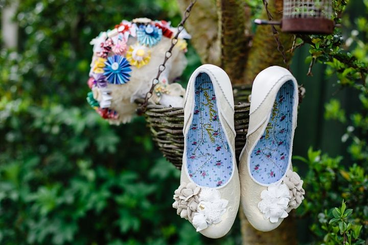 Rachel and Philip   s Rainbow Wedding With Bouncy Castle  Ferret    Rainbow Wedding Tux