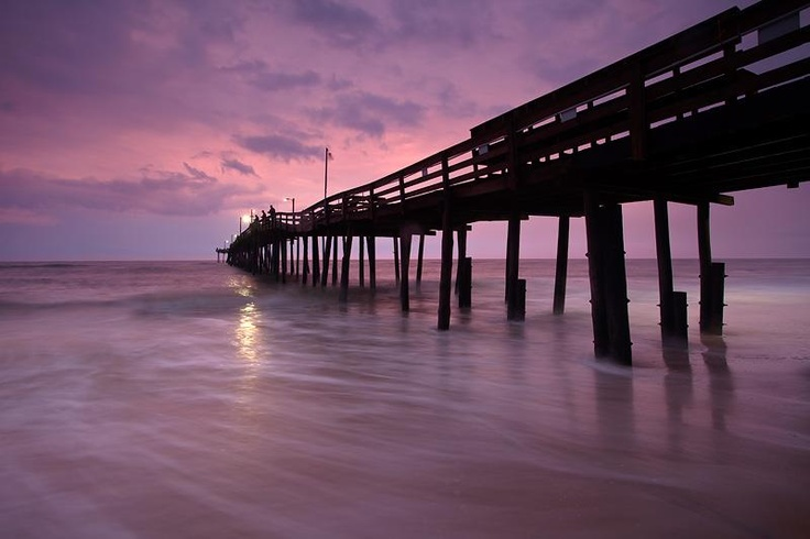 Nags head fishing pier at twilight obx photos pinterest for Nc fishing piers