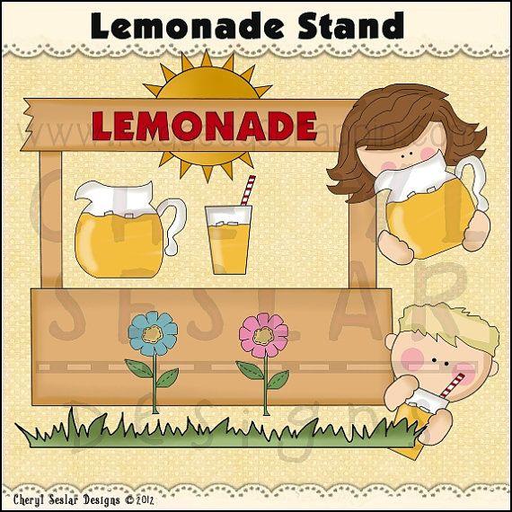 Lemonade Stand Digital Clip Art Set by StudioRockCreek on Etsy, $1.25