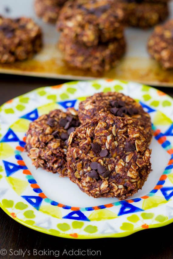 ... skinny chocolate peanut butter no bake cookies by