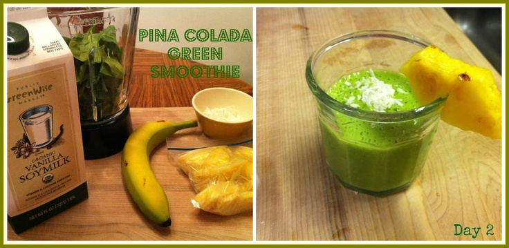 Pina Colada Green Smoothie | smoothies and drinks | Pinterest