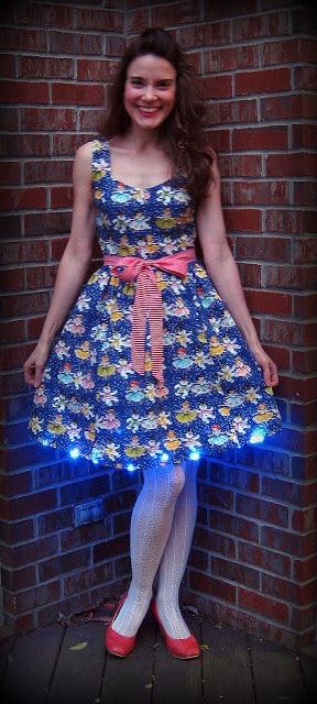 Blue Christmas Light Up dress | My Holidays | Pinterest