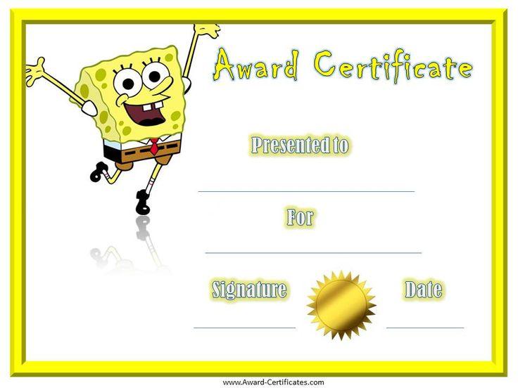 printable awards certificates