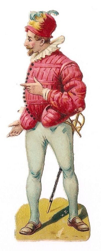 Le Soldat - Uniforme Epée Chapeau - Chromo Decoupi  - Victorian Scrap