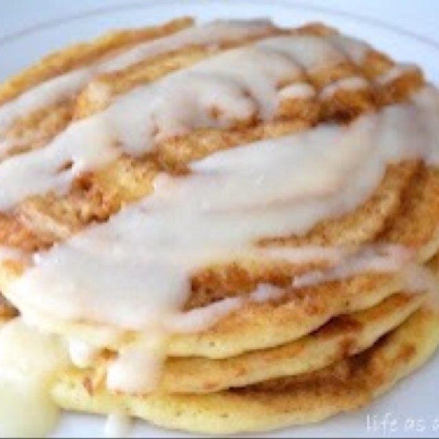 Omg cinnamon roll pancakes | Recipes: Party in my tummy | Pinterest