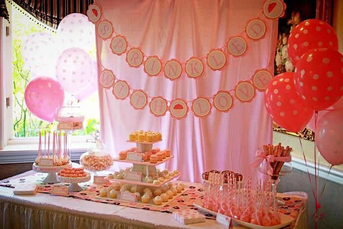 pink baby sprinkle baby shower