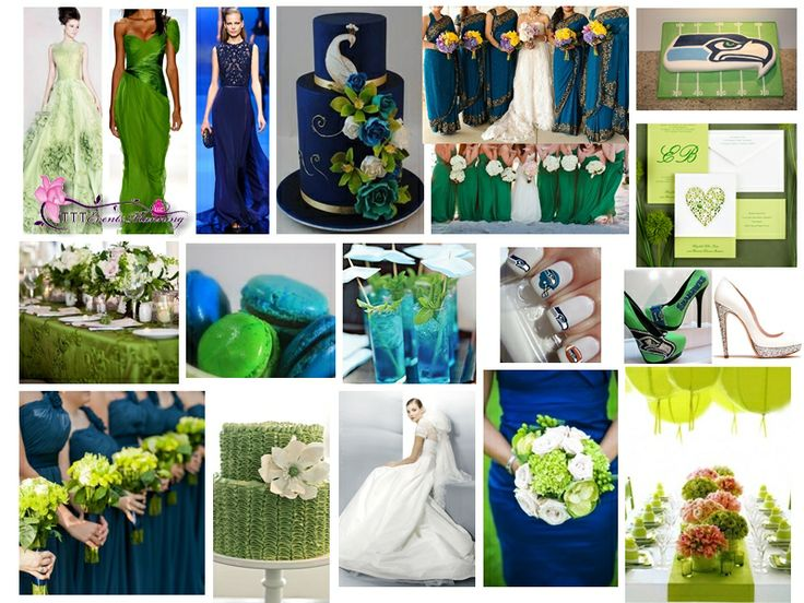 "Super Bowl Inspired"" Wedding Theme - Seattle Seahawks #SUPERBOWL XLVIII 2014 #Seahawks"