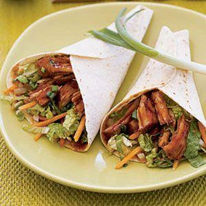 Moo Shu Pork. Used thick pork chops and the sticky, honey soy glaze ...