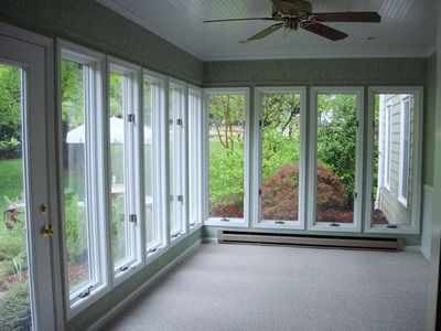 Sunroom under deck outdoor living pinterest for Walkout basement sunroom