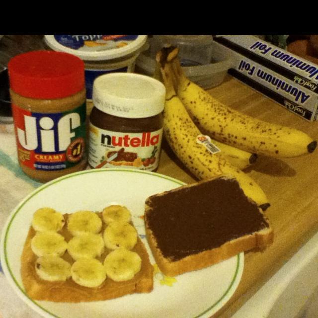 Peanut Butter, Nutella, and Banana Sandwich!