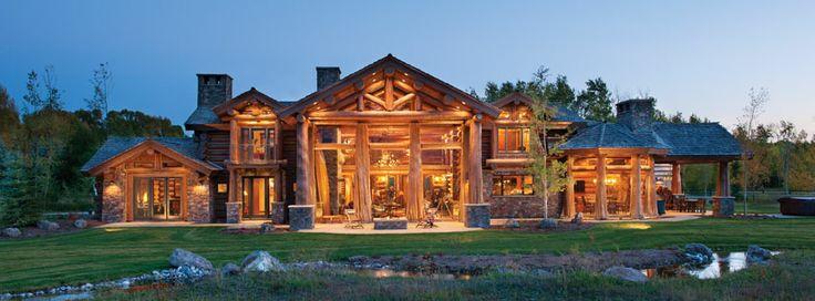 Elegant log cabin my ultimate log cabin pinterest for Elegant log homes