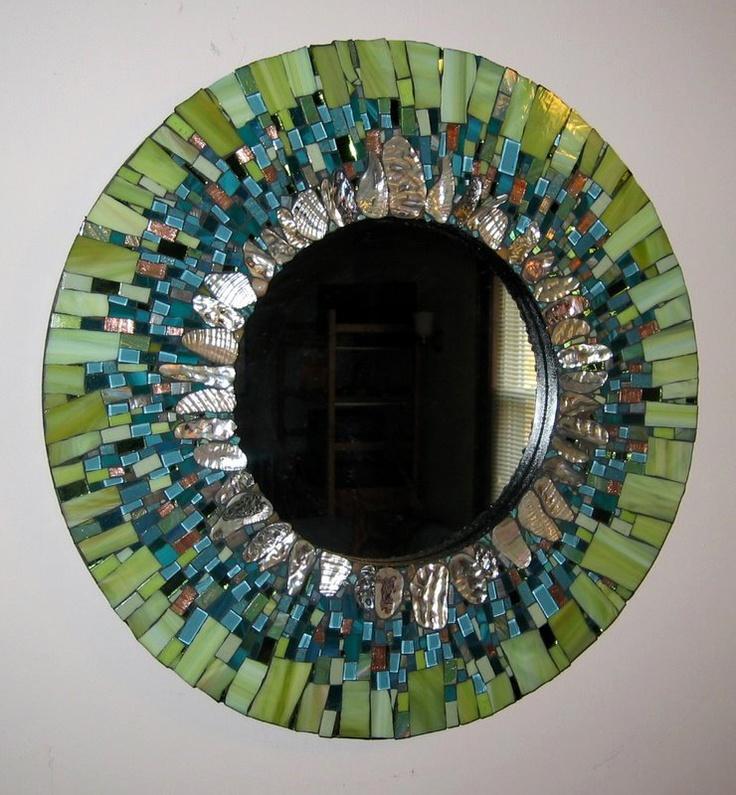 Ariel finelt shoemaker s mosaic mirror magnificent for Mosaic mirror