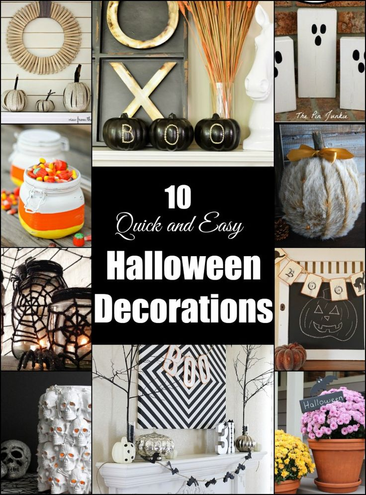 10 quick and easy halloween decorations for Decor quick