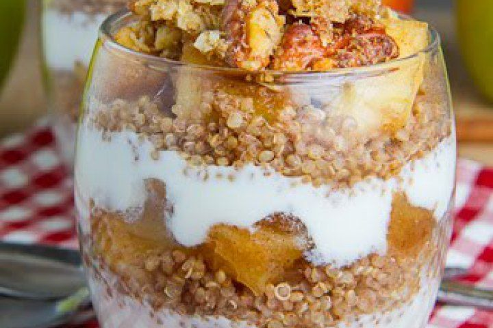Apple Crumble Quinoa Parfait Recipe | Layered | Pinterest