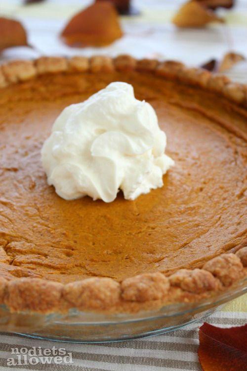 Healthy Pumpkin Pie! http://www.nodietsallowed.com/healthy-pumpkin-pie ...