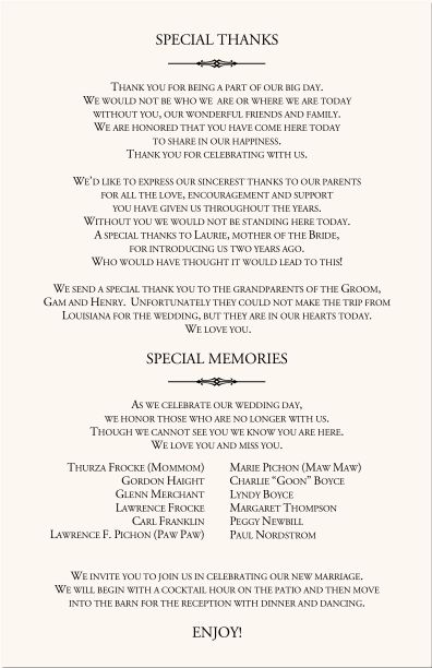 Wedding program wording i do ideas pinterest