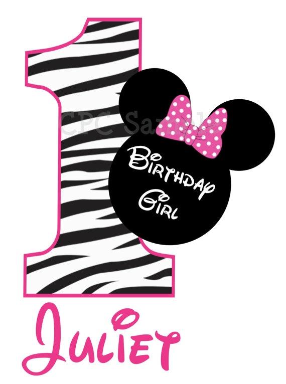 Minnie Mouse Birthday TShirt or Onesie by CutiesTieDyeBoutique, $18.00