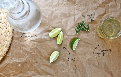 Rosemary Lime Drink | Drinks | Pinterest