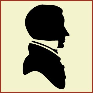 Victorian male silhouette | Pretty Paper | Pinterest