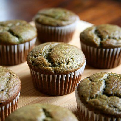 Banana (and Spinach) Smoothie Muffins