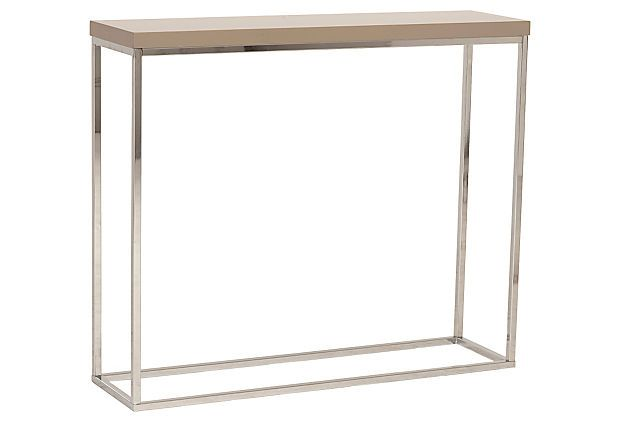 Sandor console table taupe for 10 inches deep console table