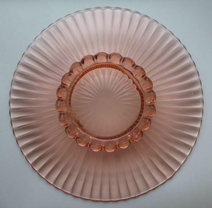glass cake dish  anchor hocking monaco cake set with