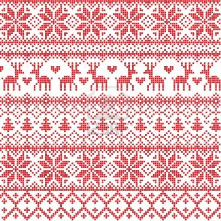 nordic pattern ... Ugly Christmas Sweater Clipart