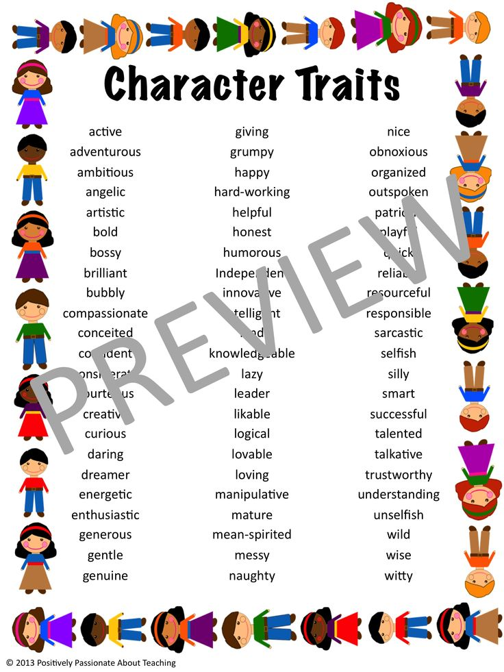 read write think character traits Character traits activities & games as our students gradually learn how to think about the books they read, and analyze their meaning and significance, one important aspect for them to consider .