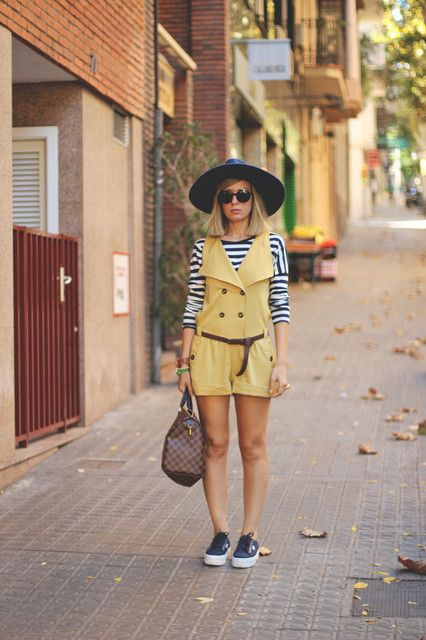 preppy in yellow and strippes