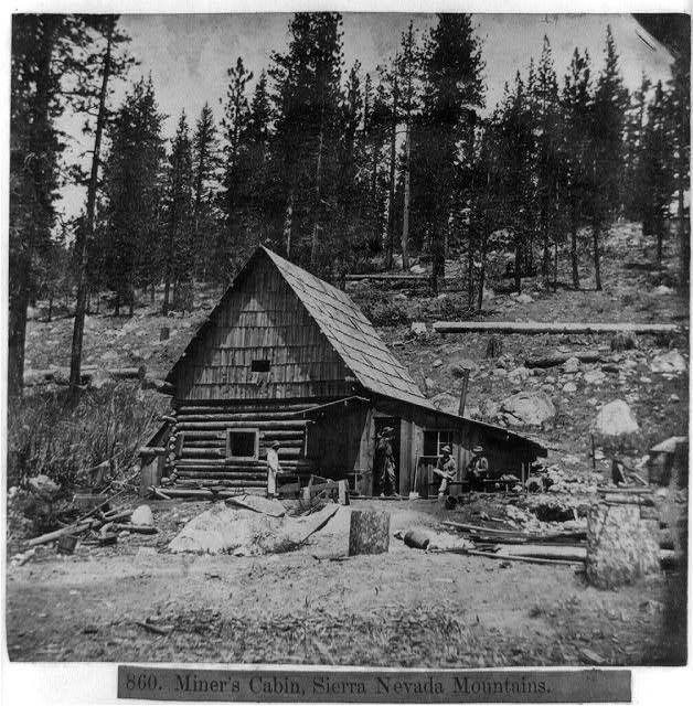 Miner 39 s cabin sierra nevada mountains california gold for Sierra nevada cabine