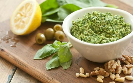 Basil-Spinach Pesto // This pesto features spinach in addition to the ...
