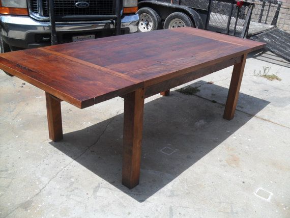 Reclaimed Wood Pine Extension Dining Table USA Made