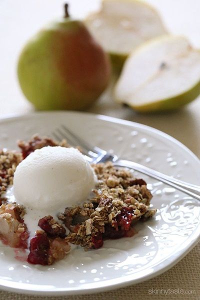 Cranberry Pear Crumble, a dessert recipe using Royal Riviera Pears by ...
