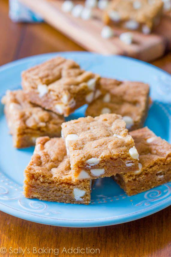 Biscoff White Chocolate Blondies! Brown sugar, white chocolate ...