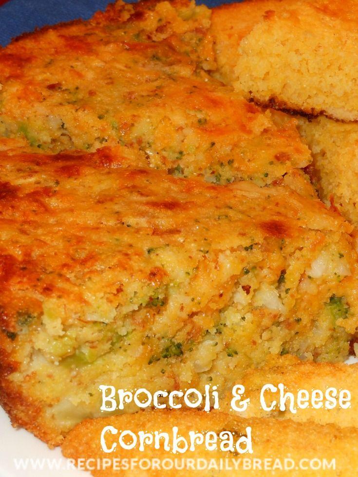 Broccoli & Cheese Cornbread recipe - This cornbread is so moist and ...