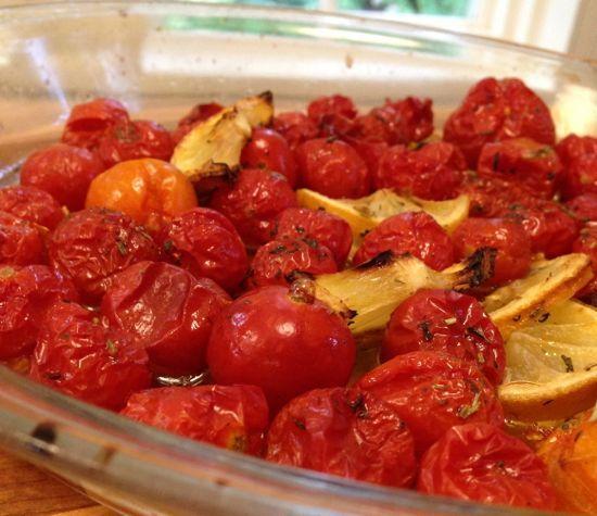 the perfect condiment. cherry tomato confit.