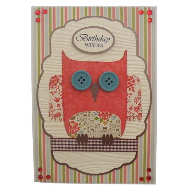 Free P Handmade Owl Birthday Card £3.50