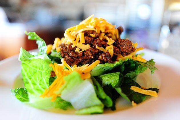 cheeseburger salad - on this week's menu