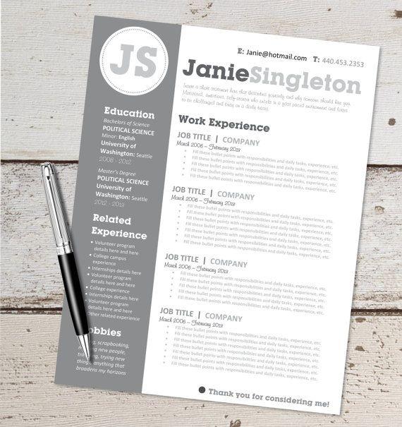 Instant resume templates