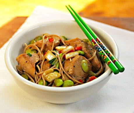 love a bowl of this! Ginger-Lime Tuna with Buckwheat Soba Noodles ...