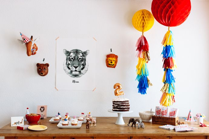 Animal-themed second birthday party | EmilyMcCall.com