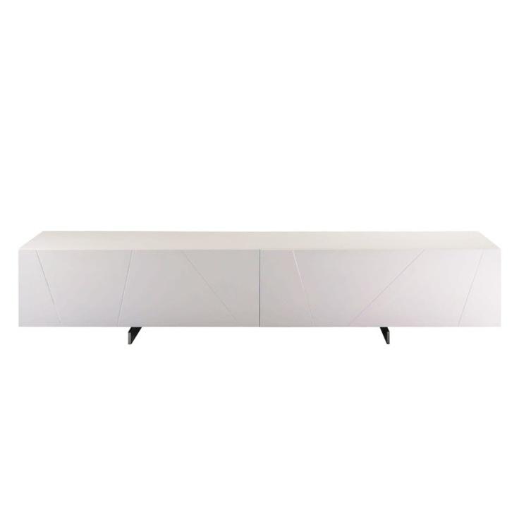 lowboard h ngend hochglanz wei. Black Bedroom Furniture Sets. Home Design Ideas