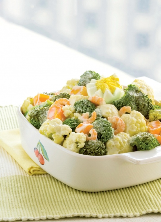 Recipe: Steamed Vegetable Salad with Creamy Dressing | Appetite