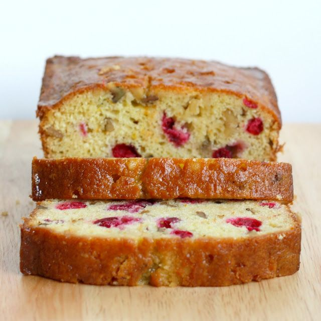 Cranberry Orange Walnut Tea Bread with Sweet Orange Glaze