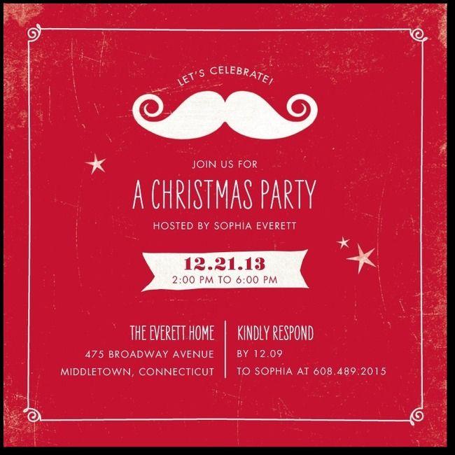 Christmas Party Invite Ideas with beautiful invitation design