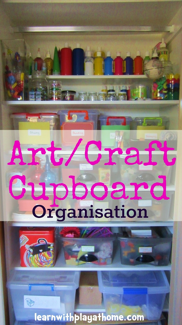 Organisation Ideas for an Art/Craft Cupboard. (I've done an art/craft cupboard makeover. Fancy taking a peek inside..?)