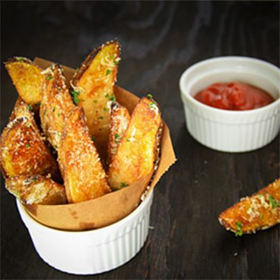Oven Baked Potato Wedges | sides | Pinterest
