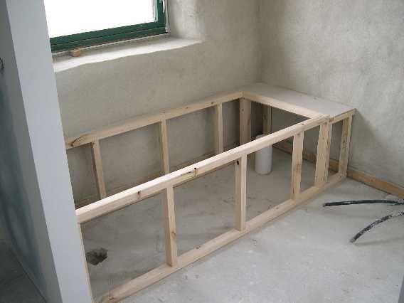 Tub framing ideas bathtub installation with mortar for A frame bathroom ideas