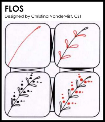 Zentangle flos great example of a visual to teach my for How to draw flo
