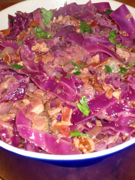 Warm Red Cabbage with Bacon Salad | Recipes/Cooking Tips | Pinterest